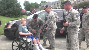 134th Air Refueling Wing visits local boy with Knoxville Police and Fire Departments