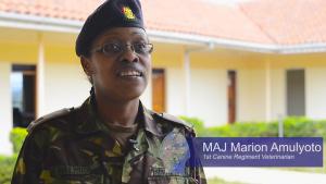 U.S., Kenyan Military Dog Handlers Share Skills