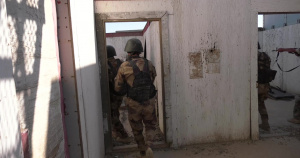 Iraqi Counter-Terrorism Service Conduct Military Operations on Urbanized  Terrain Training