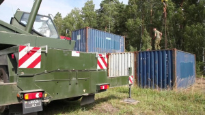 Lithuanian Army supports construction project with the Pa. Air National Guard.