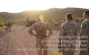 New K-9 Combat Training for Creech, Nellis