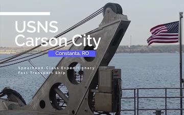 USNS Carson City Arrives In Constanta
