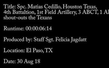 Spc. Matias Cedillo- Houston Texans