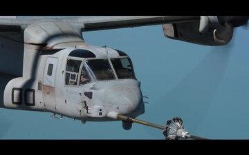 MV-22 Osprey Aerial Refuel Over Australia