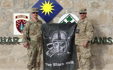 Sgt. 1st Class Richard Santana and Sgt. 1st Class Roberto Lopez Oakland Raiders NFL Shout Outs