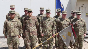 147th Regional Support Group stands at attention