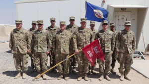 851st Vertical Engineer Company stands at attention