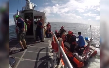 Coast Guard rescues 3 adults, 2 teenagers from capsized vessel near Crystal Beach, Texas
