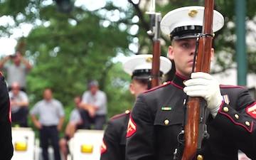Marines Participate in Marine Week Charlotte Closing Ceremony