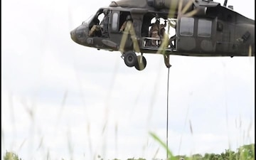 U.S. and Colombian Forces Conduct Fast Rope Exercises