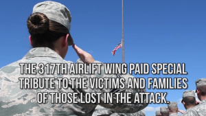 317th Airlift Wing Holds Tribute to 9-11 Victims