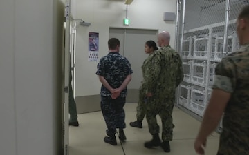 Vice Chief of Naval Operations visits MCAS Iwakuni (B-Roll)