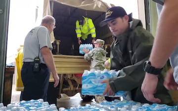 N.C. National Guard Soldiers Assists In Delivering Essential Food and Water