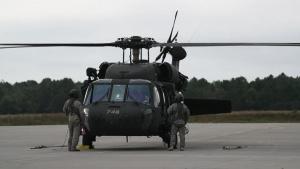B-ROLL: New Jersey Army National Guard deploys rescue Black Hawk to assist North Carolina