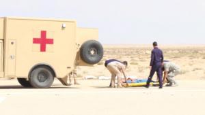 U.S. and Egyptian Army MEDEVAC Rehearsal