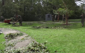 MCCSSS Lejeune Memorial Gardens and Coastal Carolina Veterans State Cemetery Hurricane Florene Cleanup