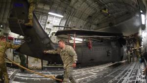 Alaska Guard UH-60 offload at McEntire