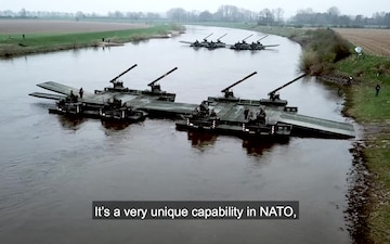 How NATO Gets Tanks Across Rivers (With Subtitles)