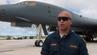 US Air Force Technical Sergeant Justin Johnson speaks about his experience during Exercise Valiant Shield 18