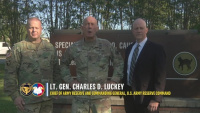 Lt. Gen. Charles D. Luckey visits the 81st Readiness Division