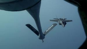 U.S. Marine Corps F-35B Lightning II Aerial Refuel