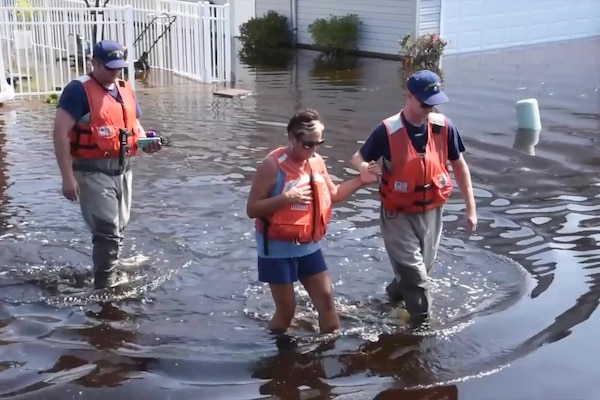 Coast Guard crews conduct post Hurricane Florence operations in Longs, S.C.