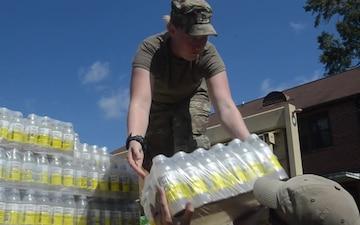 Soldiers provide relief efforts due to Hurricane Florence