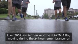 Team Osan participates in 24 hour POW/MIA remembrance run