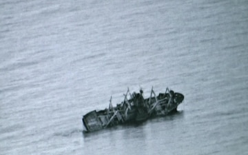 Ship Sinks During SINKEX (BRoll)