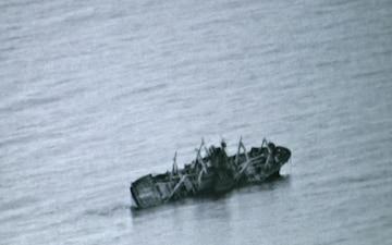 Ship Sinks During SINKEX (BRoll)
