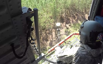 New York Army National Guard Soldiers from Company C 1st Battalion 171 GSAB Conduct Rescues in North Carolina