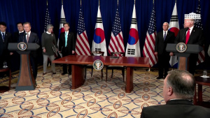 President Trump Participates in a Signing Ceremony for the United States - Korea Free Trade Agreement