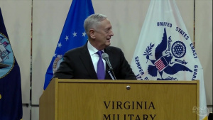 Mattis Delivers Remarks at Virginia Military Institute