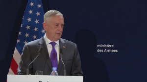 Mattis Holds Joint Presser with French Counterpart