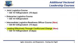 Leadership and Development Opportunities - Logistics Career Field Team