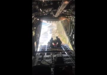 Coast Guard Air Station Kodiak drops supplies to survivor 127 miles east southeast of Cordova, Alaska