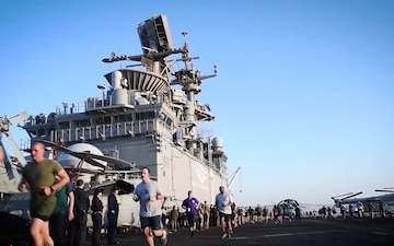 USS Iwo Jima - Boston Strong Run