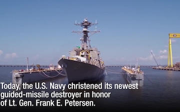 Frank E. Petersen, Jr. Ship Christening