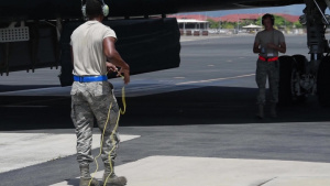 Airmen from Whiteman AFB Perform Hot Pits During Bomber Task Force