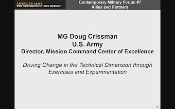 AUSA 2018 CMF #7: Working Towards Interoperability in a New Era of Nation-State Conflict