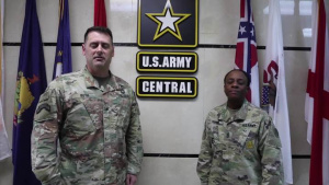 COL Kuth and CSM Reed-ASG Qatar- Army v. Navy Game Shout Outs-Watch Stadium