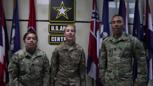 CPTs Wolf, Schoenlein, Hill- ASG Qatar-Army v. Navy Game Shout Out-Watch Stadium
