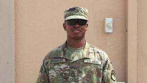 PFC Malique Studevan-25th Signal Battalion-Army v. Navy Game Shout Out-Watch Stadium