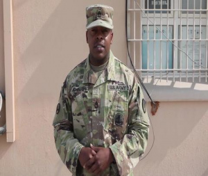 SFC Troy Johnson-Camp As Sayliyah, Qatar- Army v. Navy Game Shout Out-Watch Stadium