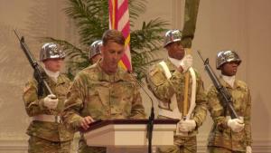300th Sustainment Brigade Flag Casing Ceremony