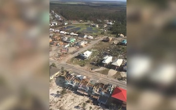 Coast Guard conducts Hurricane Michael overflight assessment in Panama City, Florida