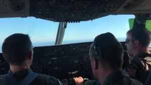 KC-10 flying over Atlantic Ocean