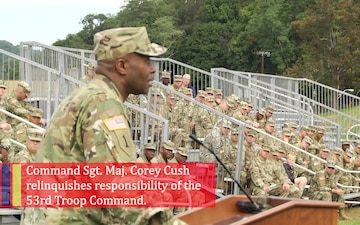 53rd Troop Command Change of Responsibility Ceremony Highlight