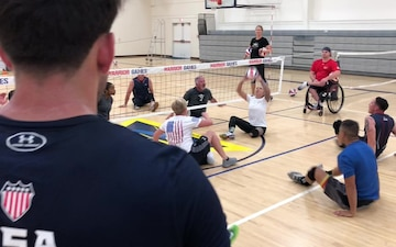 2018 Invictus Games Training: Sitting Volleyball and Rowing