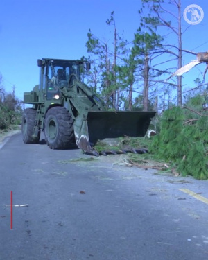 Florida National Guard Clears Debris